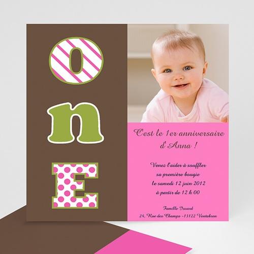 carte invitation anniversaire fille numero un fille