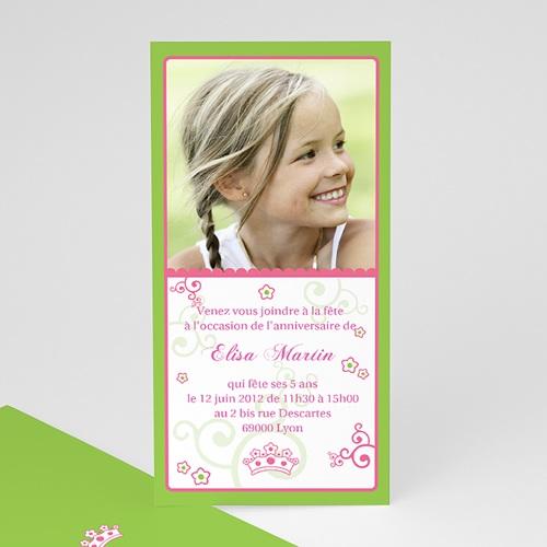 carte invitation anniversaire fille jour de gloire