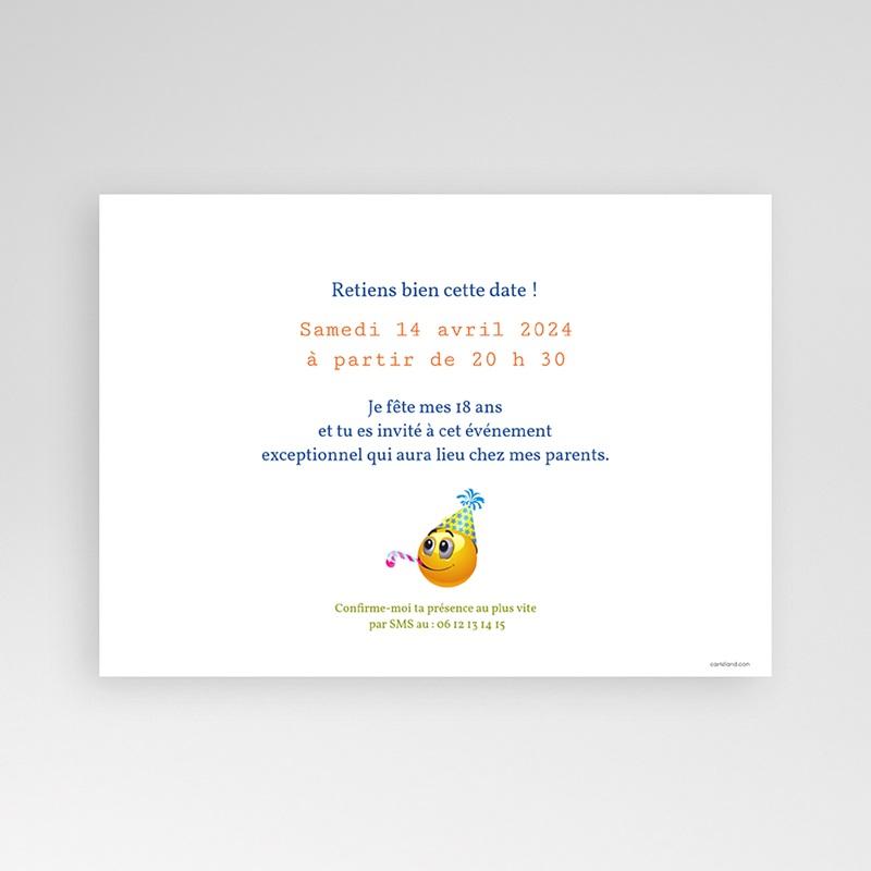carte invitation anniversaire adulte smiley