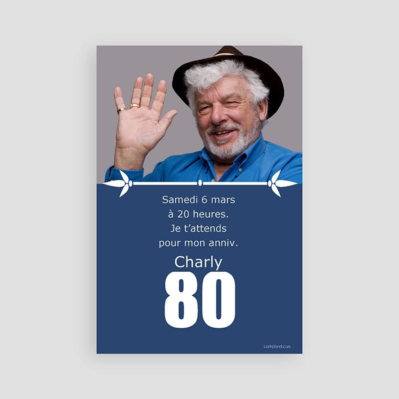 carte invitation anniversaire adulte 80 ans