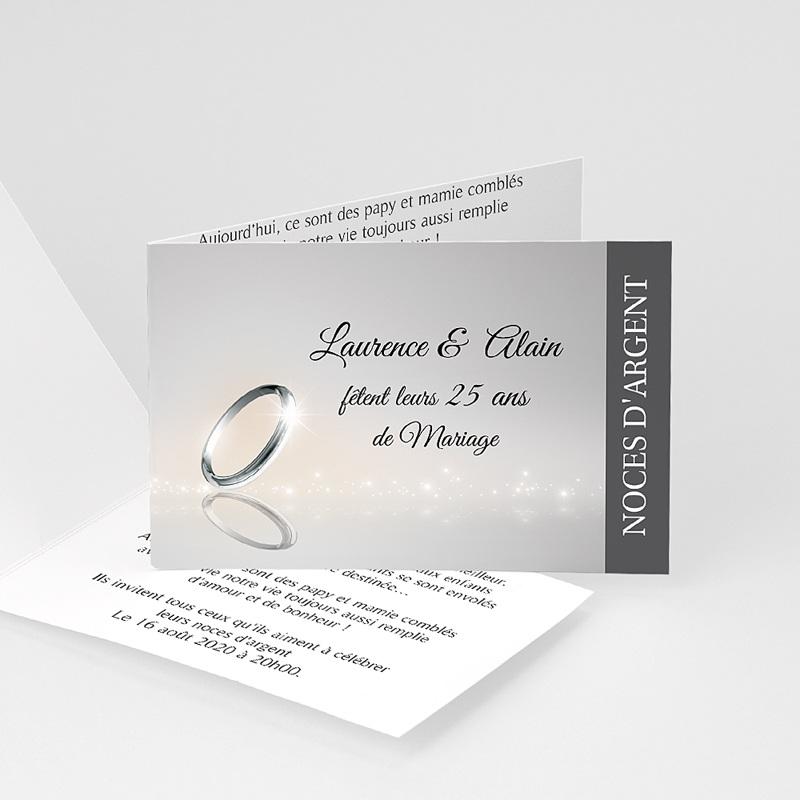 carte invitation anniversaire mariage noces d argent 25 ans