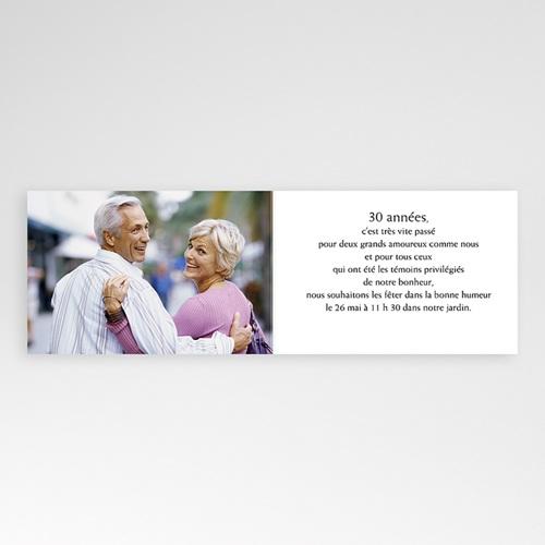 carte invitation anniversaire mariage noces de perle 30 ans