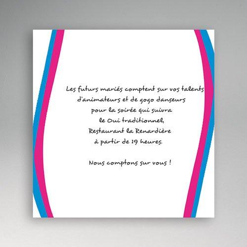 carton invitation personnalise une fille et un gars