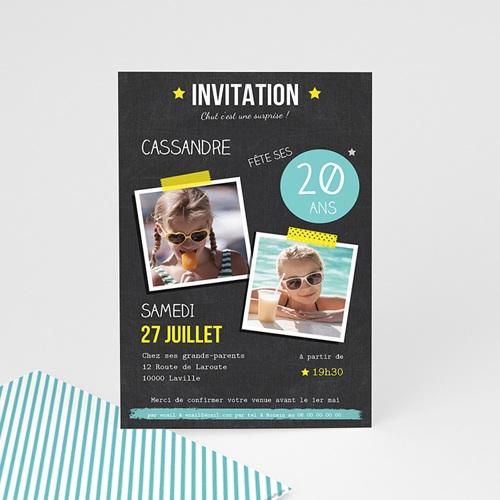 carte invitation anniversaire adulte pop 20 ans