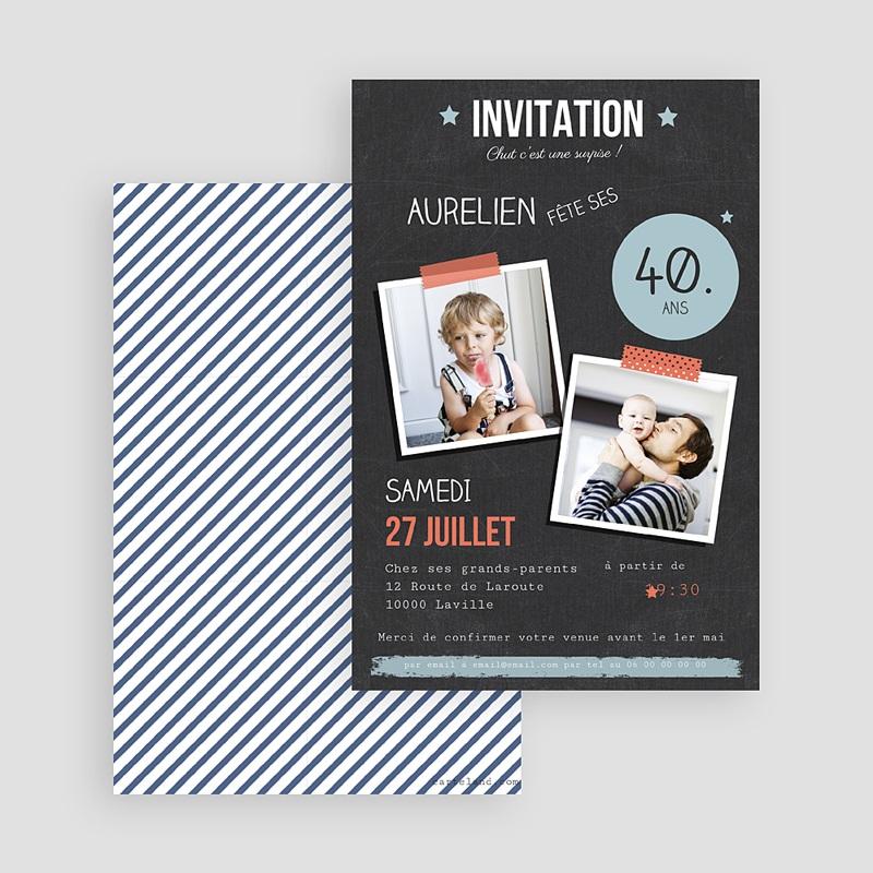 carte invitation anniversaire adulte pop 40 ans