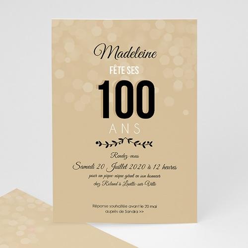 carte invitation anniversaire adulte 100 ans