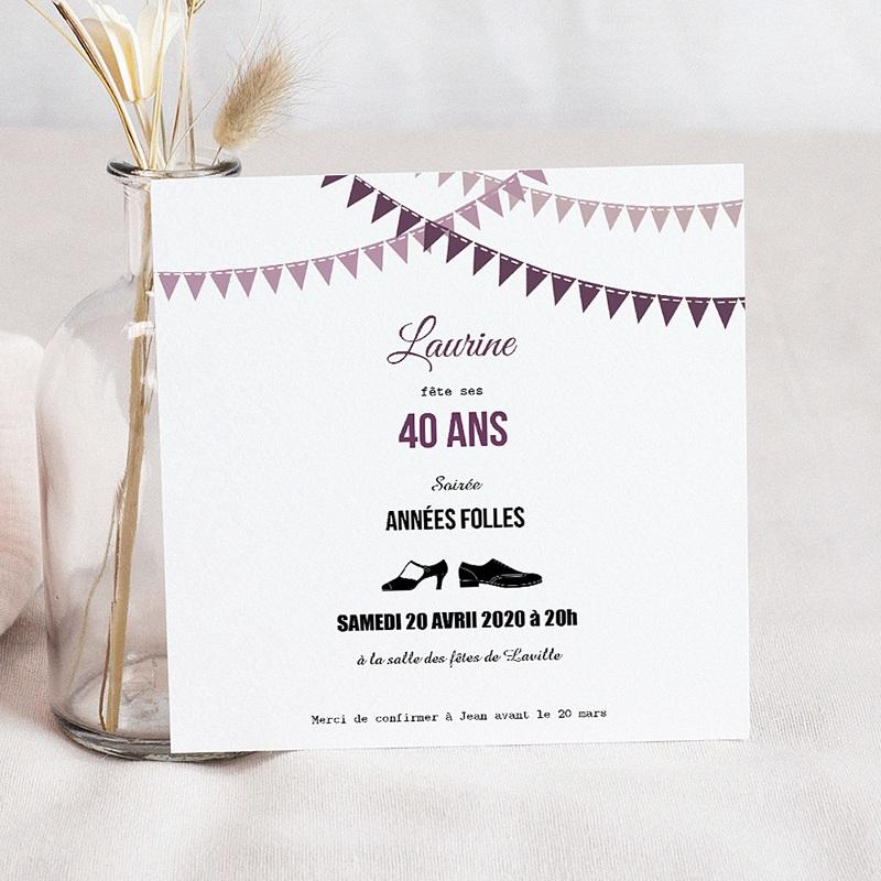 Carte Invitation Anniversaire Adulte Soirée Folle