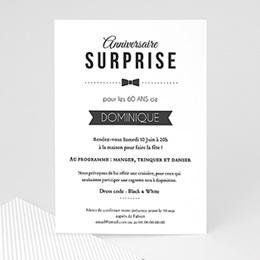 Carte Invitation Anniversaire 60 Ans Femme Homme Carteland