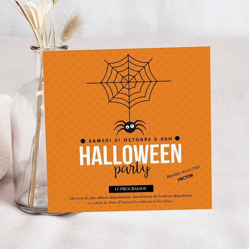carte invitation anniversaire garcon halloween