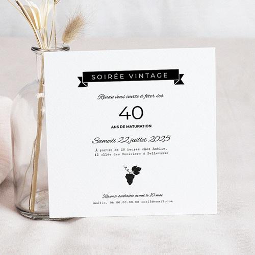 carte invitation anniversaire adulte humour