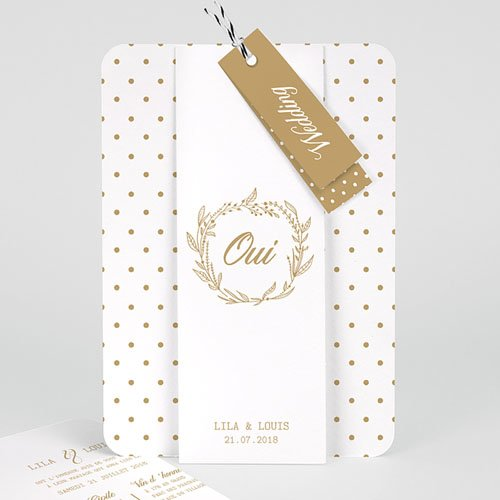 Faire Part Mariage chic - Oui Massif 55777