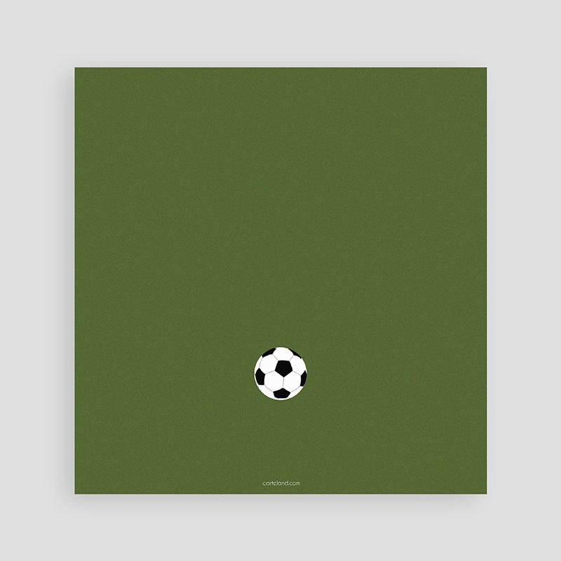 carte invitation anniversaire garcon football