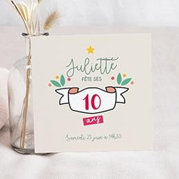 invitation anniversaire adolescent