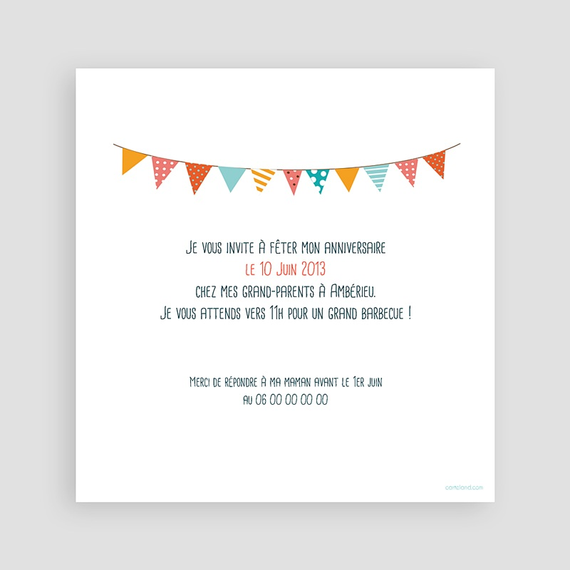 carte invitation anniversaire garcon 1 an