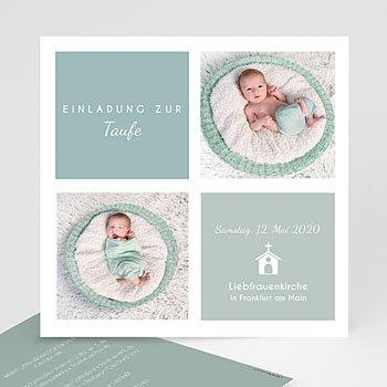 Einladungskarten Taufe Jungen Pastellblau