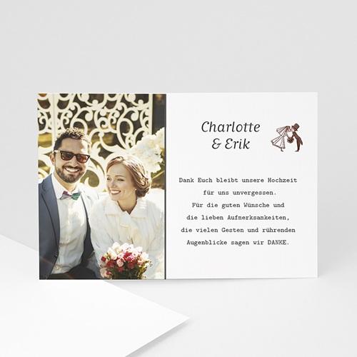 Danksagungskarten Hochzeit Festlicher Bouquet  Carteland