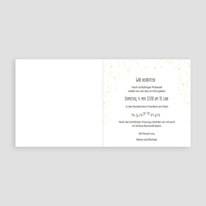 Hochzeitseinladungen modern  Hochzeitsdeko  Cartelandde