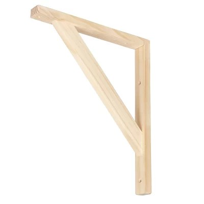 equerre bois 250 x 300 naturel timber form