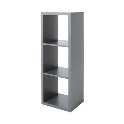 etagere modulable 3 cubes coloris gris mixxit