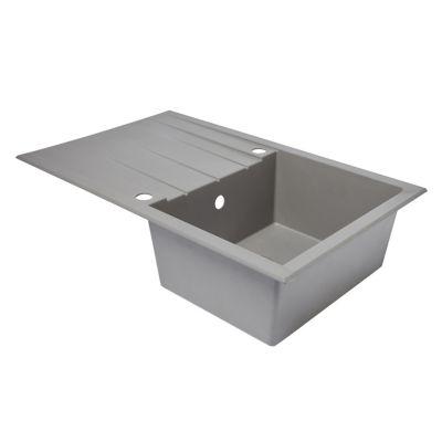 evier en resine grise mat 1 bac a encastrer ising