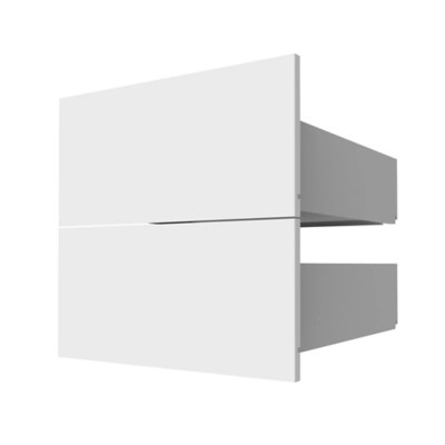 2 tiroirs couvrants blanc form darwin 50 cm