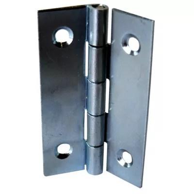 25 charnieres acier zingue diall 35 x 22 mm