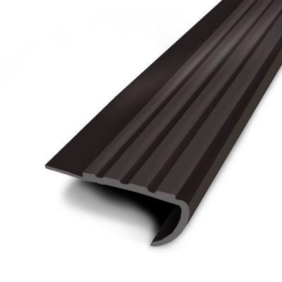 Nez De Marche Teck A Coller PVC Noir 43x170 Cm Castorama