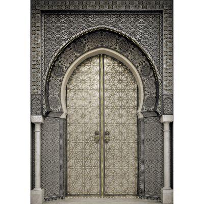 Toile sur chssis porte orientale strass 65 x 925 cm  Castorama