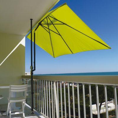 Parasol de balcon Couleurs du Monde Lo anis 300 x 150 cm
