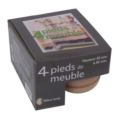 4 Pieds De Meuble Boule En Hetre H 5 X O 8 5 Cm Castorama