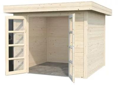 abri bois toit plat volga 9 08 m ep 28 mm