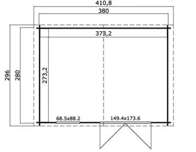 abri de jardin bois riga 12 m ep 34 mm