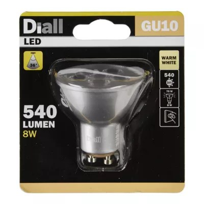 Ampoule Led Reflecteur Gu10 Spot 8w 75w Blanc Chaud Castorama