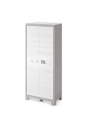 armoire haute blanc major 4 tablettes l 80 x h 182 x p 44 cm