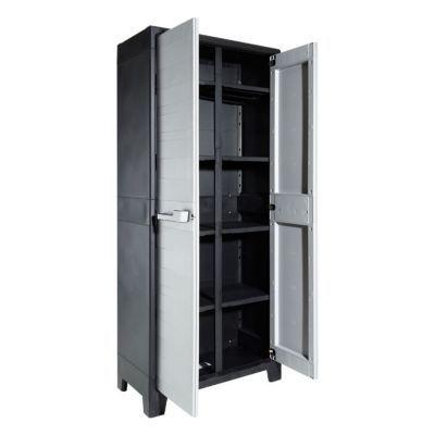 armoire haute plastique holo multispace l 80 x h 182 x p 43 cm