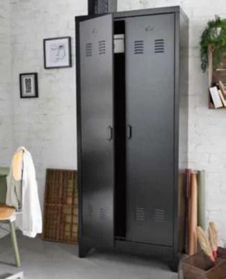 armoire vestiaire en metal l 80 x p 40 x h 180 cm