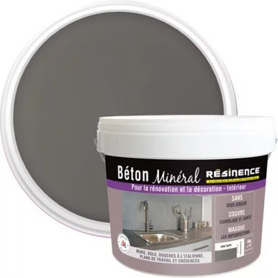 beton mineral resinence gris taupe 6kg