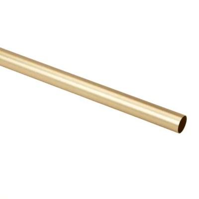 barre a rideau goodhome elasa laiton brosse 19 mm 200 cm en laiton brosse