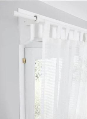 barre a rideau goodhome extensible ikaria blanc mat 70 100 cm