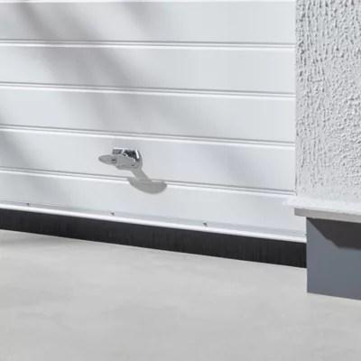 bas de porte de garage alu brosse diall argent 125 cm