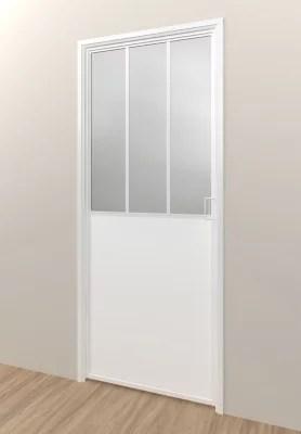 bloc porte esprit atelier blanc h 204 x l 83 cm poussant droit