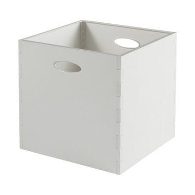boite de rangement carree en plastique mixxit coloris blanc