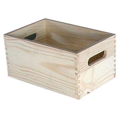 caisse de rangement en pin vitoria taille 1