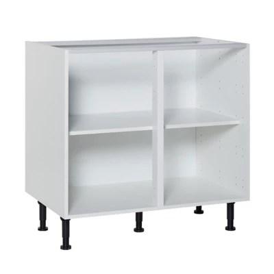 caisson bas 2 portes blanc cooke lewis 90 cm