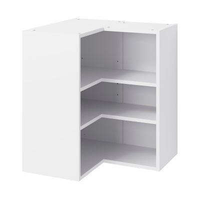 caisson haut d angle de cuisine 2 portes goodhome caraway blanc h 72 cm x l 63 cm