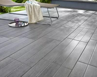 Carrelage Exterieur Stripe Wood Gris 30 X 60 Cm Castorama