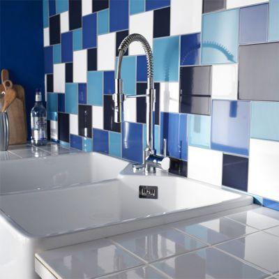 carrelage mur blanc 10 x 10 cm glossy