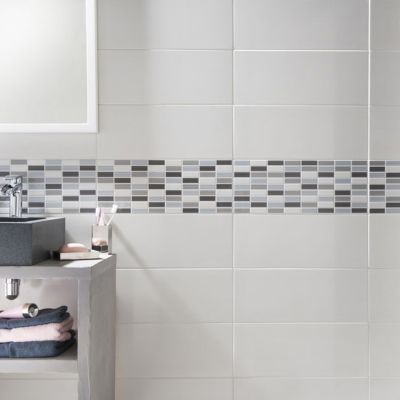 carrelage mur blanc 20 x 50 cm melotti