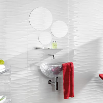 carrelage mur decor blanc 25 x 75 cm danka vendu au carton