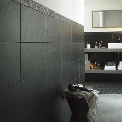 carrelage mur noir 25 x 40 cm ardoise vendu au carton